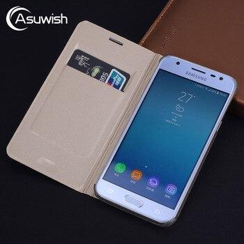 Перейти на Алиэкспресс и купить Кожаный чехол-книжка для Samsung Galaxy J7 J5 J3 2017 Pro 2016 2015 J2 J4 J6 Plus J8 2018 M10 M20 M30 M40 Grand Prime
