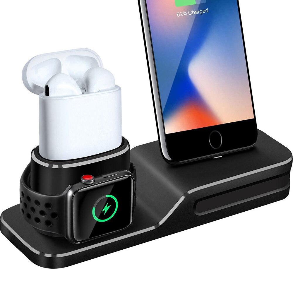 Mikrofonstativ Heimelektronik Zubehör Neu 3 In 1 Ladestation Silikon Ständer Kompatibel Mit Apple Uhr Iphone Xs/x/8/8 Plus