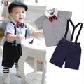 2016 Boys Clothing Gentleman Sets Handsome Denim Shirt Pants 2pcs/set Kids Baby Children Suits Hot Selling
