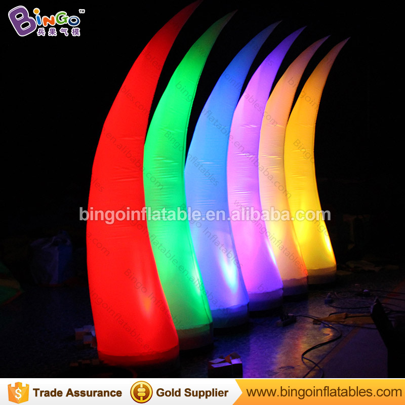 16 Colors change LED lighting 2.5 meters high inflatable ivory column high quality decorative blow up pillar toys16 Colors change LED lighting 2.5 meters high inflatable ivory column high quality decorative blow up pillar toys