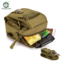 Outdoor Sport Camousflage Running Waist Bag Molle Military Tactical Waist Fanny Shoulder Bag For 5 5