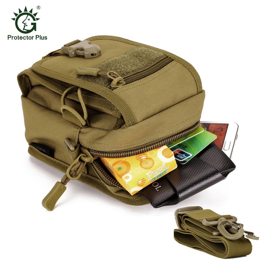 ספורט בחוץ Camosflage ריצה מותניים תיק Molle צבאית טקטי מותן Fanny כתף תיק עבור 5.5 אינץ 'טלפון נייד