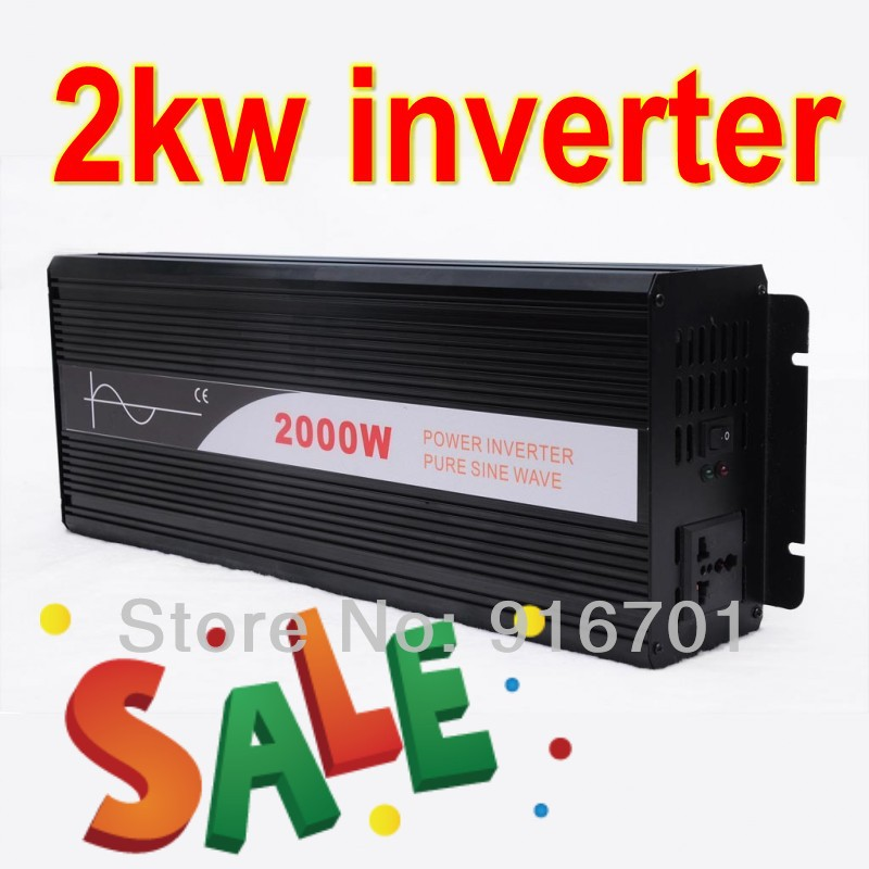 цена на Hot Sale solar inverter 2000w pure sine wave off grid tie inverters dc 12v24v48v input to ac 220v output