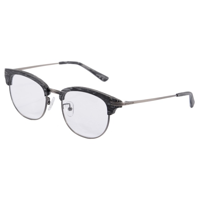 bf93ee3e12 Half Rim Eye glasses Frames Men imitation wood-grain Retro Round Glasses  optical glasses luxury frame lens K9031