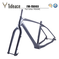 2018 free ship carbon fat bike frame with fork 26er BSA carbon snow bike frameset carbon fat bike frame+fork+thru axle shafter