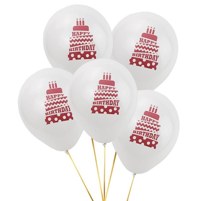 Hey Lucu  Pcs Lot Selamat Ulang Tahun Dekorasi Balon Jelas Putih Lateks Balon Udara