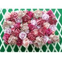 Flone Wedding Decoration Silk Roses Hydrangea Flowers Wall Wedding Background Decoration Arch Flower Row Decoration