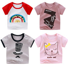 Summer Cotton Short Sleeve Child T-shirt for Boys Girl Children Cartoon Animal Print Clothes For Babies Modis Bobo Choses Roblox(China)
