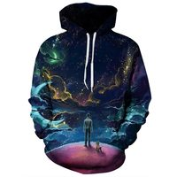 2017 NEW FASHION MEN WOMEN end world overlook sky 3D print Hoodie Sweatshirts Pullovers Autumn Tracksuit Winter Loose Thin Hoody