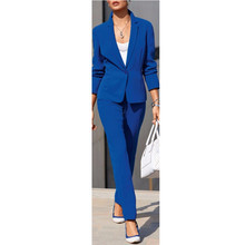 2017 Time-limited Full Cotton Pantalones Mujer Hot Sale Womens Work Wear Jacket Formal Lady Casual Business Office Pants Suit