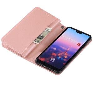 Image 5 - Per Huawei P40 P30 Pro P20 lite custodia Flip Glitter cerniera portafoglio custodia per telefono Huawei Mate 30 20 lite 10 Pro custodia in pelle magnetica