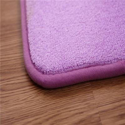 Coral velvet memory cotton carpet solid color door mat non-slip absorbent living room rug bedroom stairs anti-slip carpet