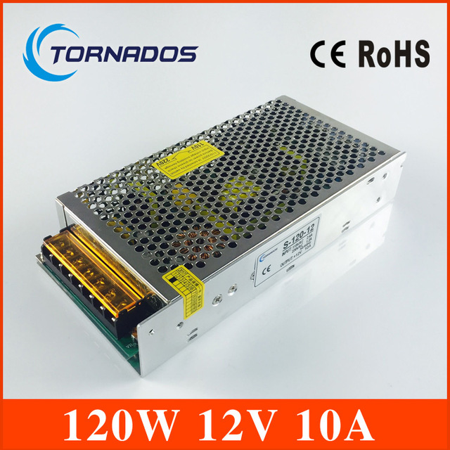 High Quality LED switching power supply LED power supply 12V 10A 120W  LED light strip Display free shipping china post