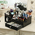 Домашний косметический ящик для хранения  пластиковый Настольный ящик для макияжа  органайзер  коробка для туалетного столика  ювелирный д...