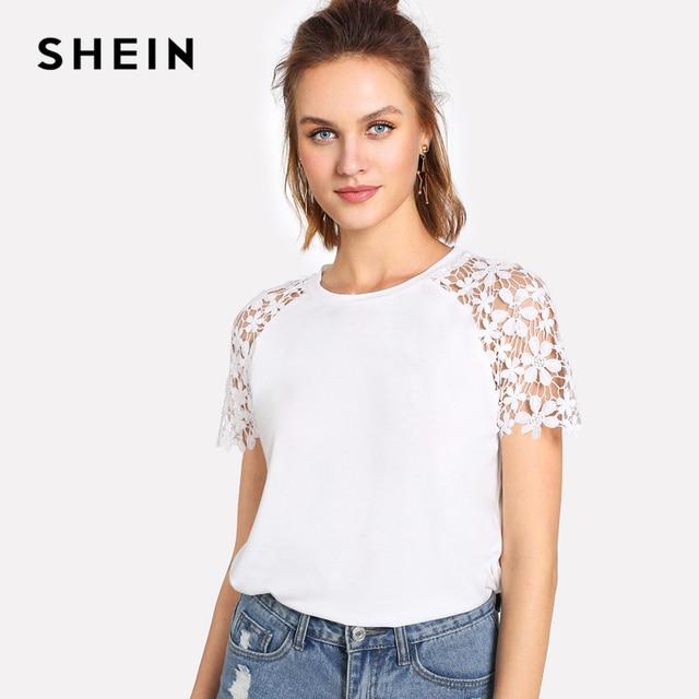 Resultado de imagen de shein white t-shirt women