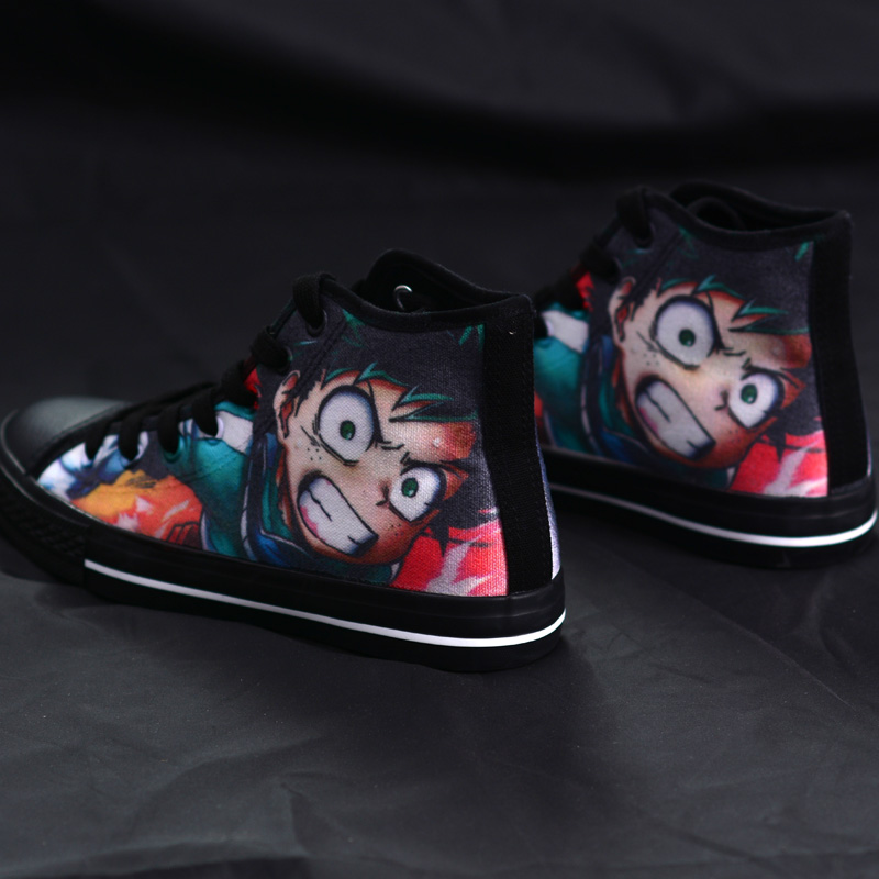 High-Q Unisex Anime Cos My Hero Academia Midoriya Izuku Casual Canvas Shoes plimsolls rope soled shoes