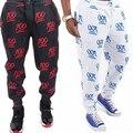 Men s Casual 100 Hundred Points Emoji Print Jogger Pants Slacks Sweatpants