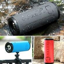 Soundbar x12 bicicleta bluetooth v4.2 alto falante portátil rádio fm tf cartão power bank bicicleta música mp3 led lanterna 3000mah