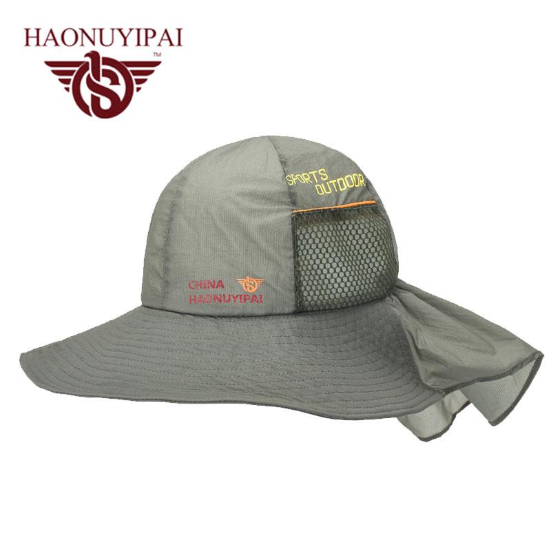 Wide brim sunscreen hats for men women outdoor sport for Womens fishing hat