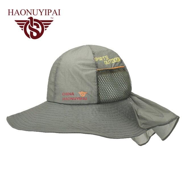 Wide Brim Sunscreen Hats For Men Women Outdoor Sport Breathable Thin Sun Hat  Fishing Hiking Garden Work Activities Hats Unisex 55602b2030c
