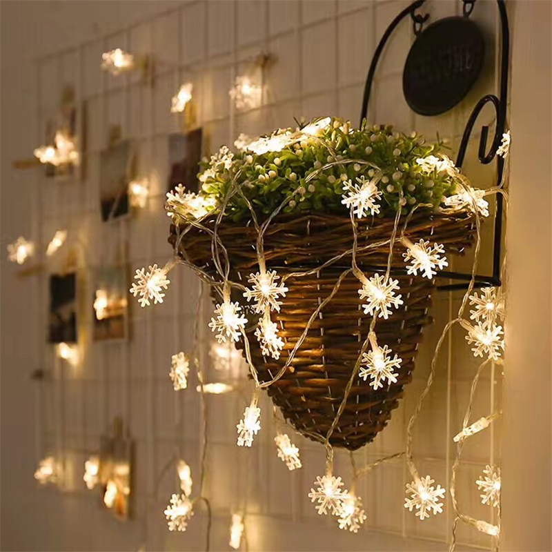3M LED Christmas Snowflake String Warm Lamp Fairy Light Holiday Wedding Party Light For Christmas Tree Decoration Ornament CKG59
