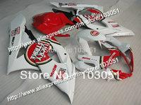 Injection mold custom for 2005 suzuki gsxr 1000 fairings K5 2006 GSXR 1000 fairing 05 06 glossy white red Lucky Strike Dw25