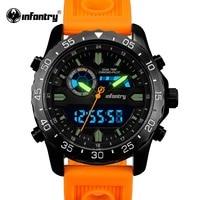 INFANTRY Men Watches Analog Quartz Wristwatch Waterproof Chronograph Auto Date Sports Watch Relogio Masculino 2017 New Fashion