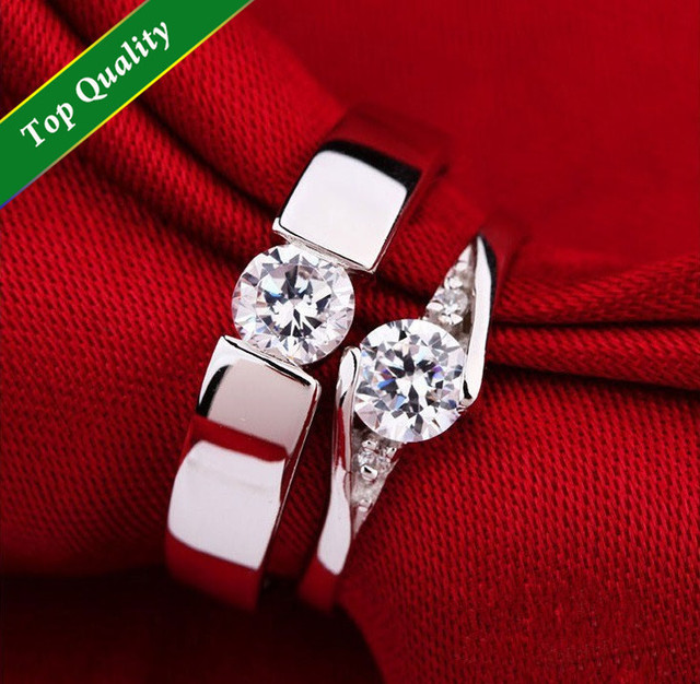 Arrows U0026 Hearts Couples 925 Silver Ring CZ Crystal Engagement Wedding Rings  Set For Men And