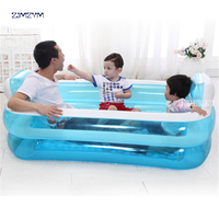 Portable PVC Adult Inflatable Bath Tub Folding Water Beauty Bathtub Safe And Environmentally Friendly Non toxic Thick NA15210860