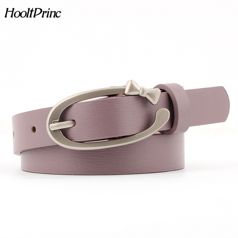 Newest silver Round buckle   belts   female HOT leisure jeans wild   belt   pin metal buckle PU leather multicolor strap   belt   women