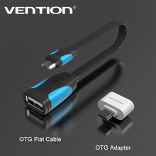 цена на VENTION Micro USB To USB OTG Adapter 2.0 Converter For Android Samsung Galaxy S3 S4 S5 Tablet Pc to Flash Mouse Keyboard