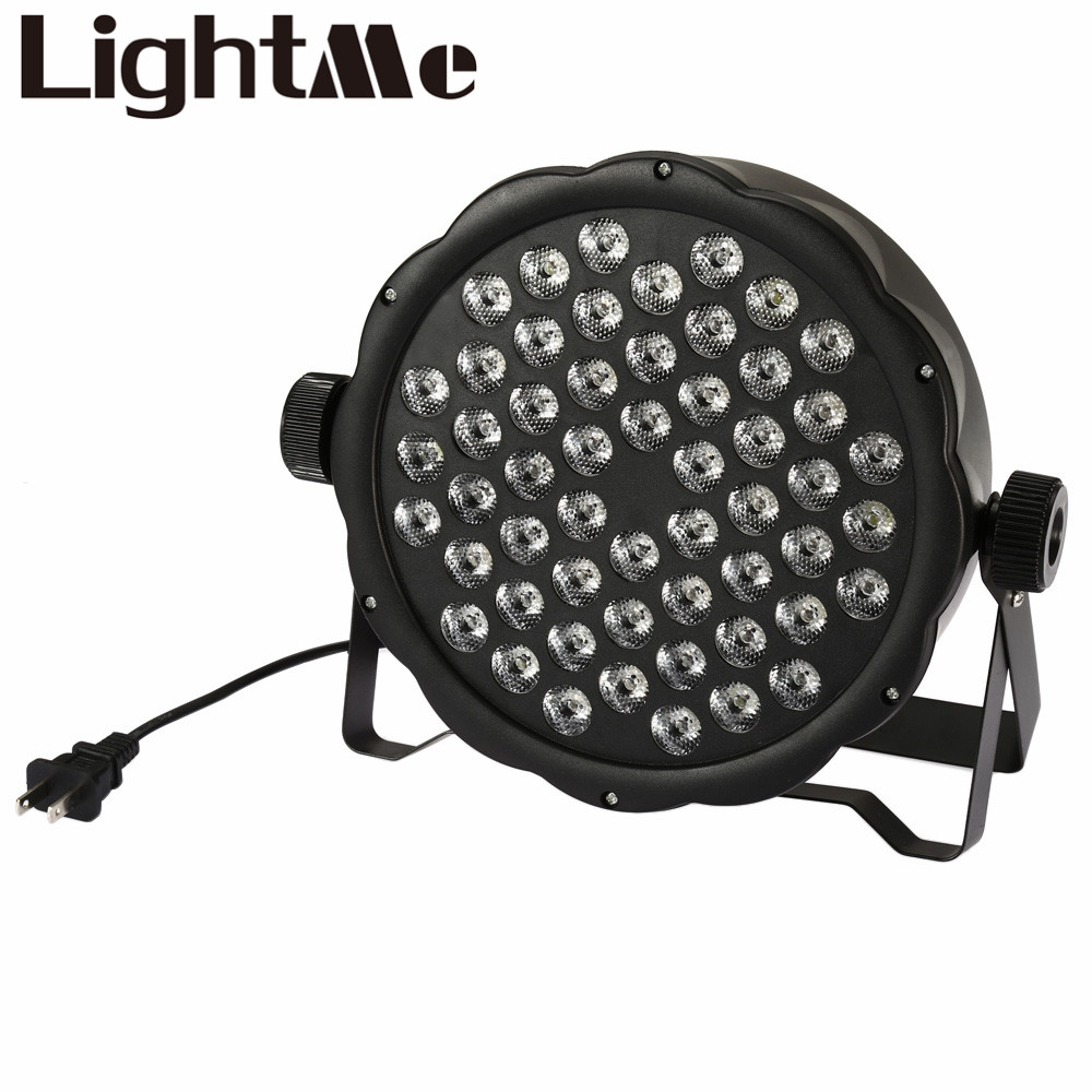 AC 110 - 220V Stage Lights RGB PAR LED DMX Stage Lighting Effect DMX512 Master-Slave Led Flat for DJ Disco Party KTV For EU Plug premium led stage lights 18w rgb led flat par light stage lamp dmx512 disco dj bar effect up lighting for dj disco party ktv