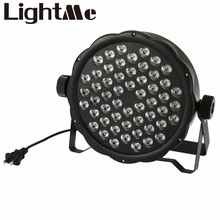 AC 110 – 220V Stage Lights RGB PAR LED DMX Stage Lighting Effect DMX512 Master-Slave Led Flat for DJ Disco Party KTV For EU Plug