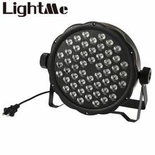 AC 110 – 220V Stage Lights RGB PAR LED DMX Stage Lighting Effect DMX512 Master-Slave Led Flat for DJ Disco Party KTV For EU Plug