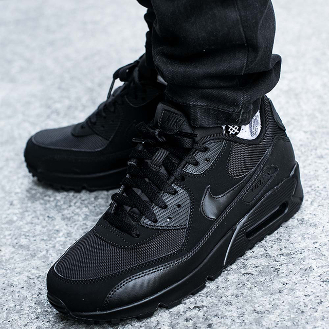 newest 0eec0 ab8e6 ... Original Authentic Nike Air Max 90 Essential Men s Running Shoes Sport  Outdoor Breathable Sneakers 2018 New
