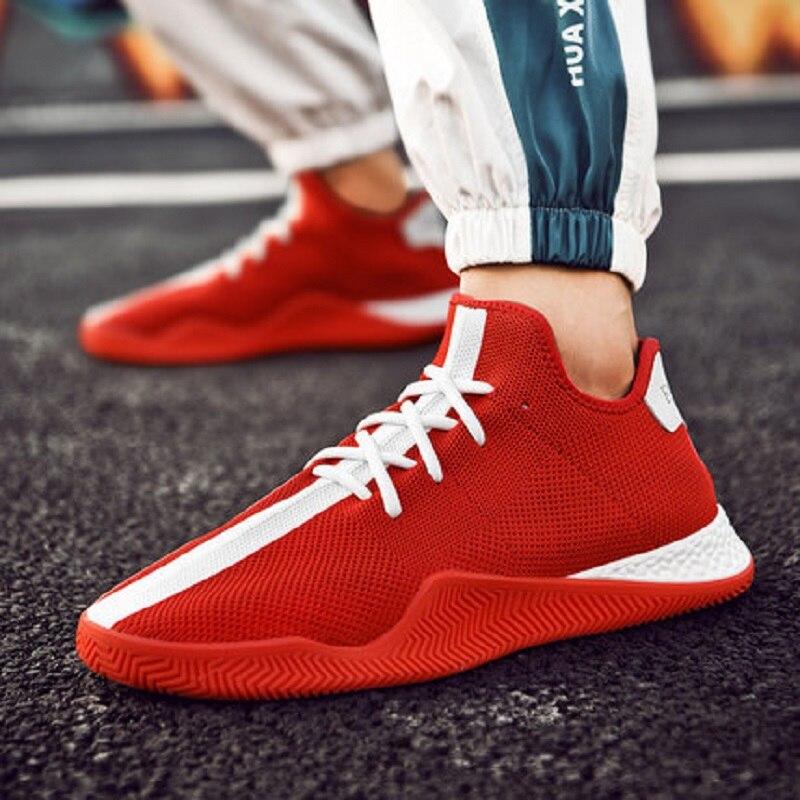Super chaussures de feu version coréenne masculine de la tendance du vol sauvage tissé décontracté vieilles chaussures blanches respirant chaussures pour hommes