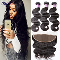 Full Lace Closure Ear To Ear With Bundles Brazilian Hair With Frontal Closure Body Wave With Frontal Human Hair With Frontal