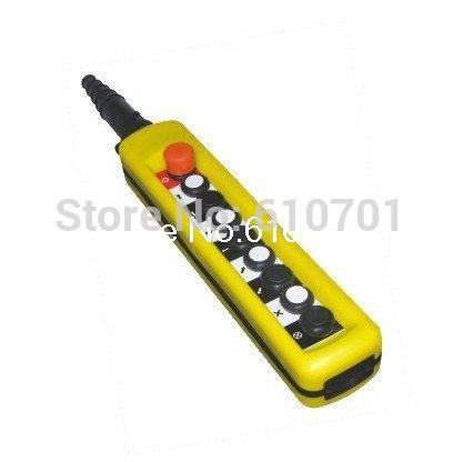 One Speed Control Hoist Crane 8 Pushbuttons Pendant Control Station With Emergency Stop XAC-8713 2 speed control hoist crane 6 pushbuttons pendant control station with emergency stop