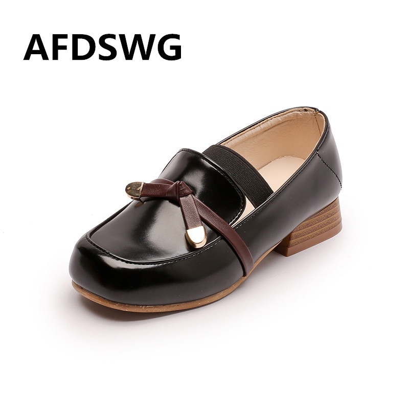 AFDSWG artificial PU black waterproof high-heeled dress shoes for boys brown black girls shoes childrens leather shoes