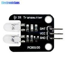 Módulo infravermelho do transmissor do ir em dois sentidos dos blocos de construção eletrônicos do nível de digitas de 5v 2 canais para arduino 28*22mm