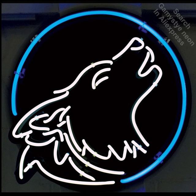 Howling Wolf Custom Neon Sign Brand Real Gl Beer Bar Pub Light Display