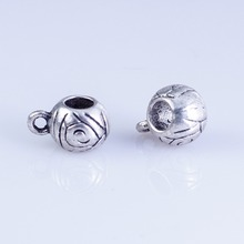 50pcs Tibetan Silver Metal Charm Spacer  Beads Clip Bail Beads Charm  for  jewelry findings 50pcs tibetan silver cute roller skate ditsy charm necklace sp chain xa18