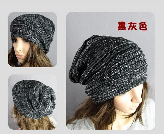 2014 envío gratis nuevo Unisex mujer hombres Slouch Hat otoño invierno de punto Cap Beanie Hat Ski Crochet colores de la selección