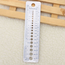 Ruler-Tool Sewing-Accessories Knitting-Needle-Gauge-Inch-Cm Plastic New Canada-Sizes