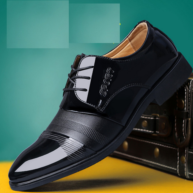 In stock!High Quality Pu Leather Shoes Men,Lace-Up Wedding Shoe,Men Dress Shoes,British Style Fashion Men Oxford For Male Father