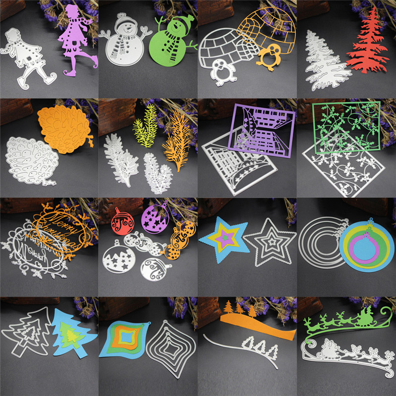 16 Best Diy Stencils Images On Pinterest: Aliexpress.com : Buy 16 Style Snowflake Cutting Dies