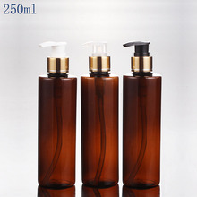 Lotion-Pump Shampoo Pet-Bottle Cosmetics Packaging Plastic Round-Shape 250ml 30pcs