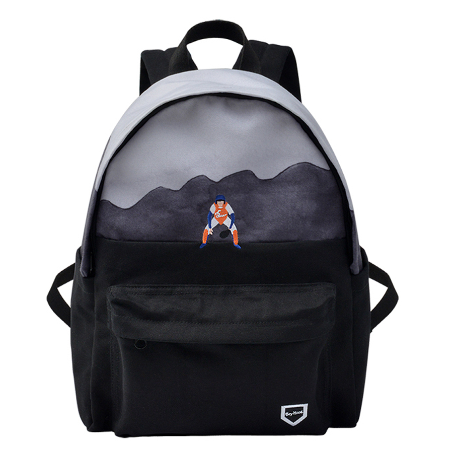 YIZISTORE canvas school traveling backpacks for girls and boys in BOYHOOD series [FUN KIK]