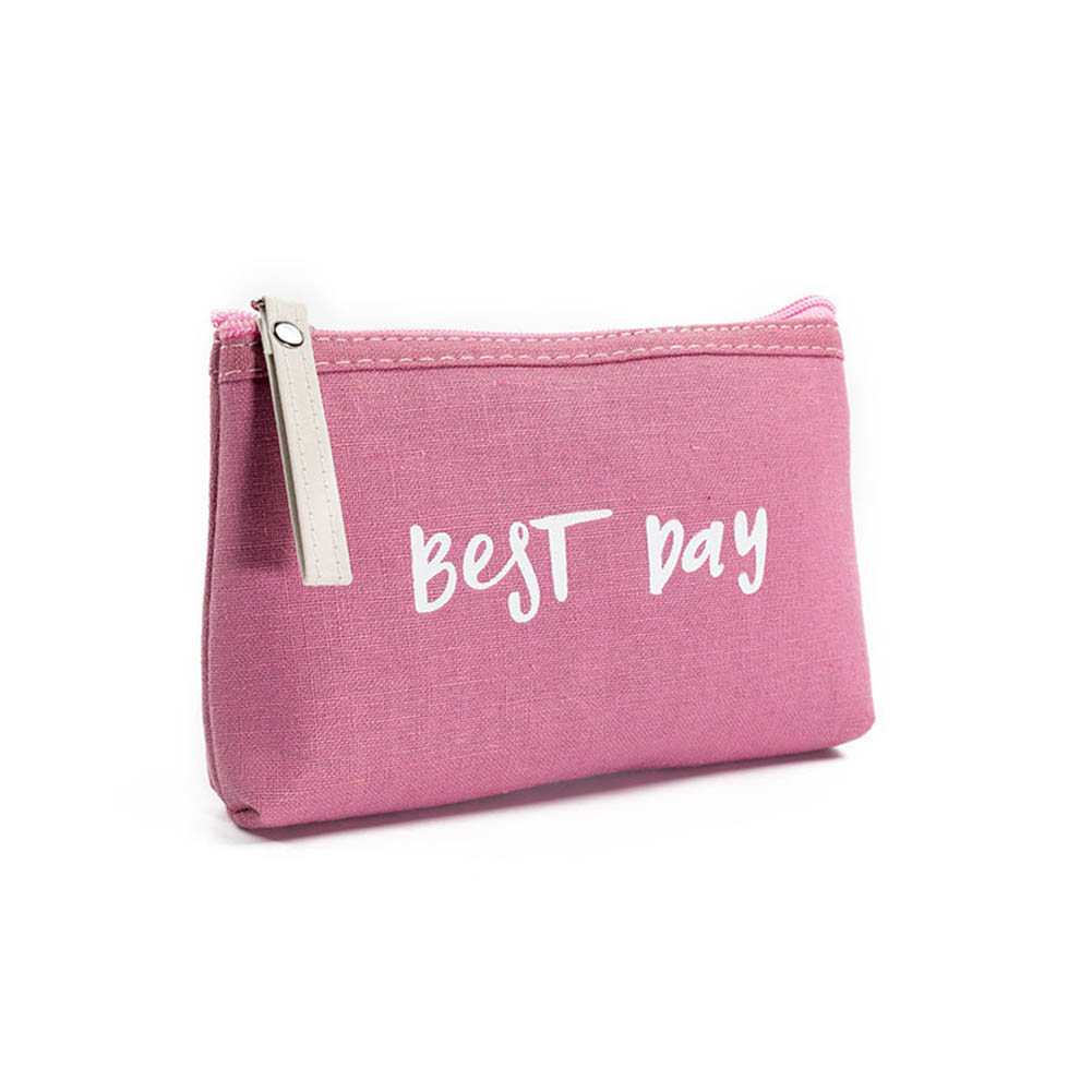 Portable Women Makeup Bags Canvas Letters Printing Cosmetics Travel Lady Pouch Cosmetic Bag Make Up Case New