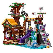 BELA 10497 Adventure Camp Tree House Model building kits compatible with lego city 3D blocks Educational